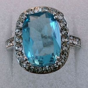 Jewelry - BLUE TOPAZ ~ 925 STERLING SILVER RING